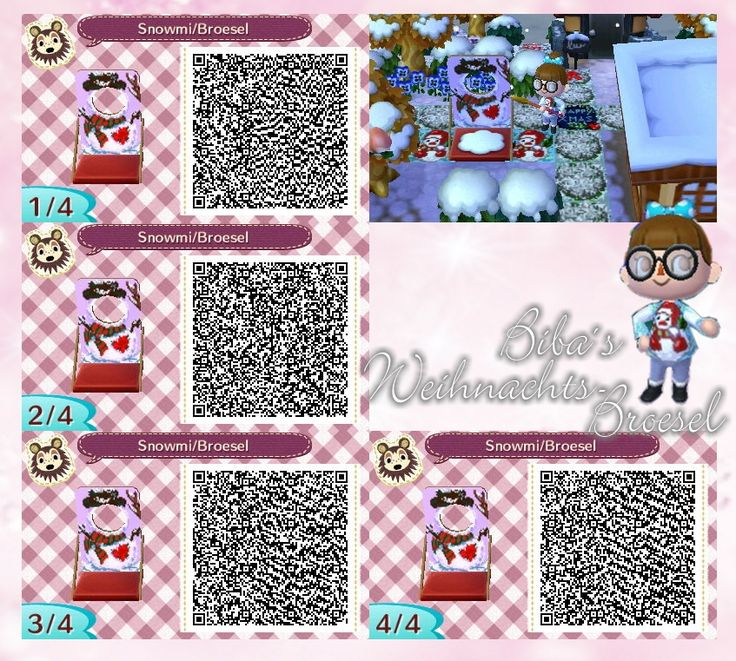 Animal Crossing New Leaf Qr Codes Boden Deko