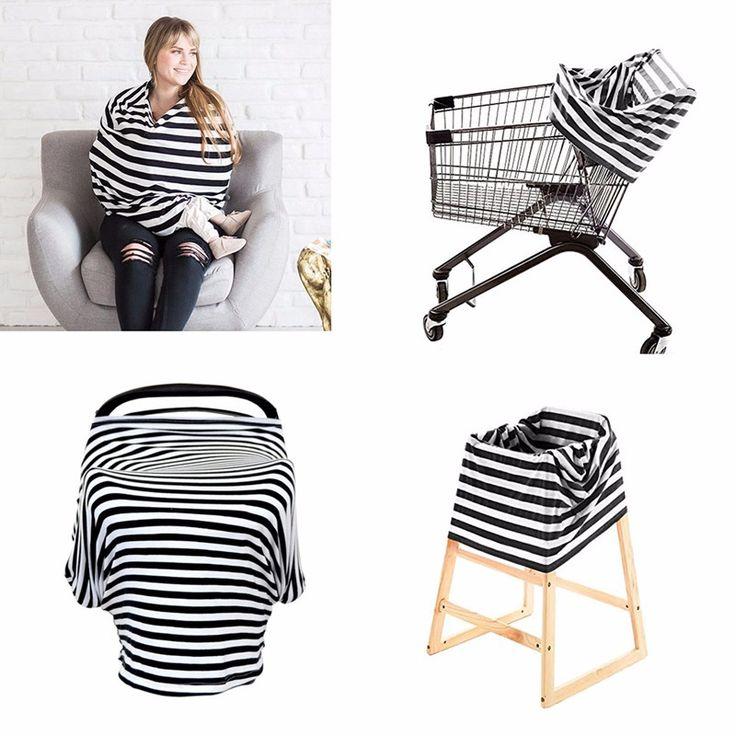 Foulard , châle d'allaitement, protège coquille & couvre-chaise  (4 en 1) *sur commande