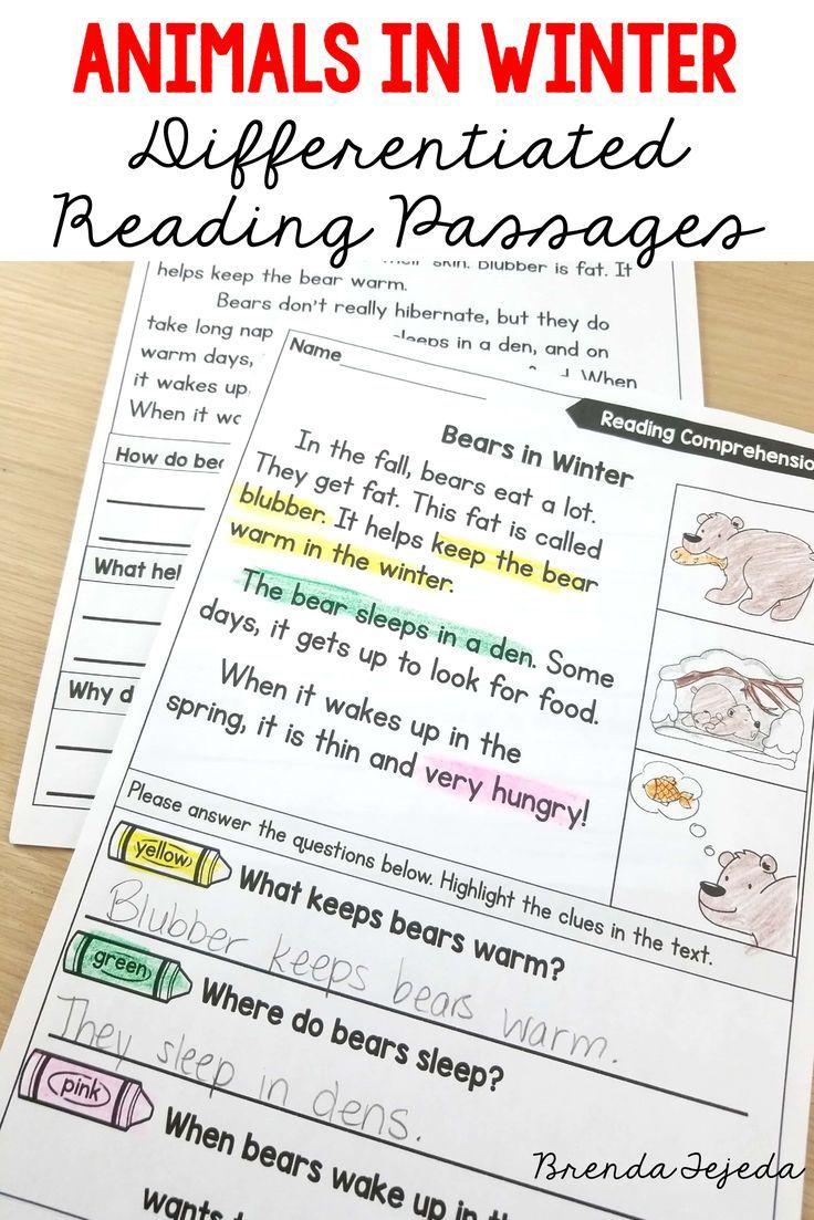 Complete Unit On Animal Adaptation Including Lesson Plans For Hibernation Camoufl Reading Comprehension Worksheets Preschool Worksheets Reading Comprehension [ 1103 x 736 Pixel ]