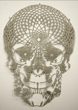 Papercutting artist Hunter Stabler: Skulls, Paper Cut Outs, Skullart, Papercutting, Cut Paper Art, Paper Sculpture, Paperart, Skull Art, Hunters Stabler