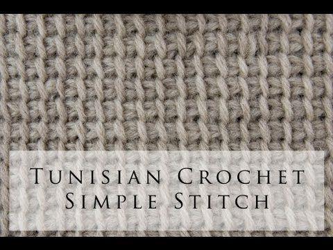 Tunisian Crochet Simple Stitch- video tutorial