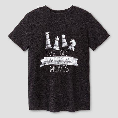 Cat & Jack Boys' Chess Graphic Short Sleeve T-Shirt - Cat & Jack Black