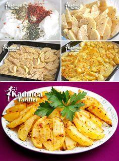 Fırında Yoğurt Soslu Patates Tarifi Kadincatarifler.com - En Nefis Yemek Tarifleri Sitesi - Oktay Usta
