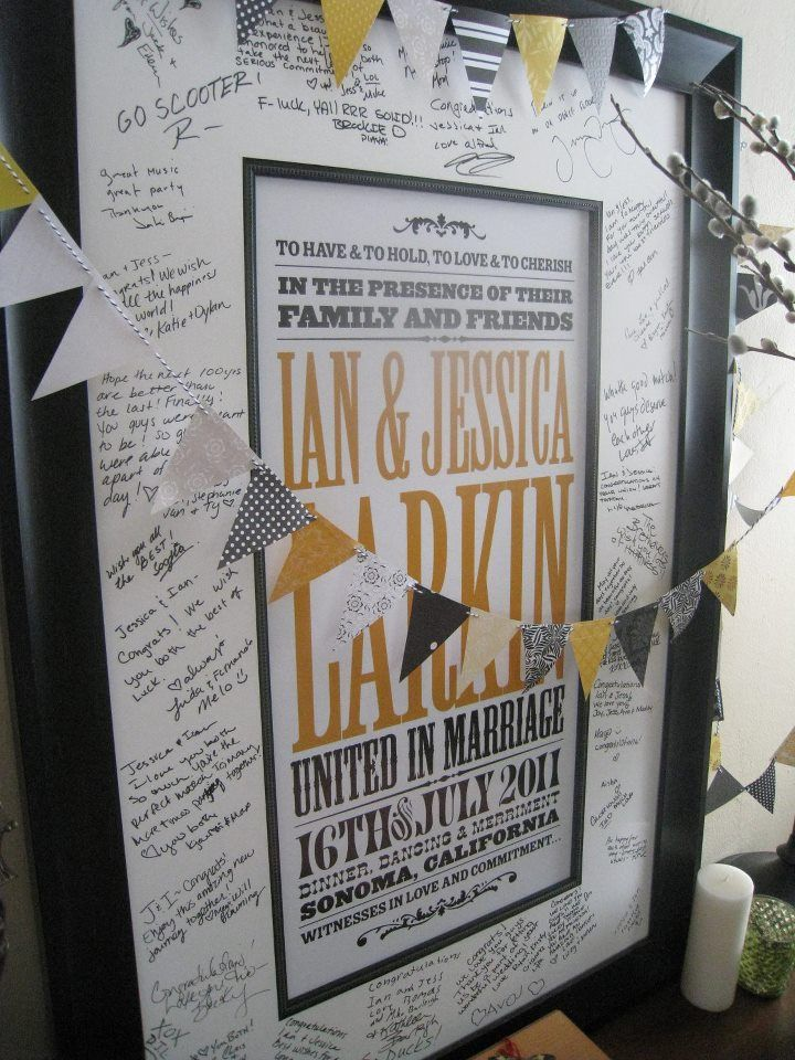 Idea for wedding guest book alt. - guest book rock-style poster