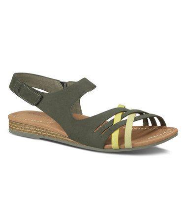 Look at this #zulilyfind! Agave Green Saratoga Leather Sandal - Women #zulilyfinds