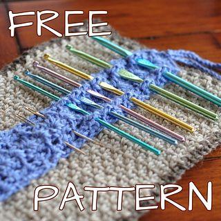 Crochet Hook Organizer. I need this! (free pattern)