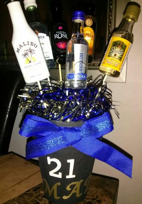21st Birthday Party Center Pieces