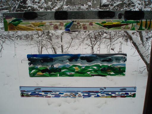 Pohjanmaa, kolmiosainen lasireliefi Pohjanmaa, three-piece glass relief