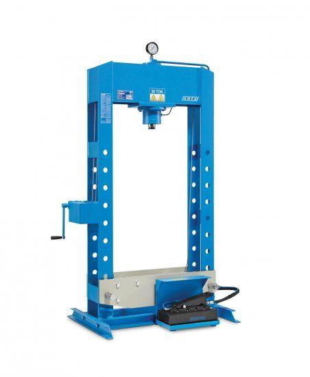 Pressa Idraulica Pompa Idropneumatica Pedale OMCN 158-IP 50T