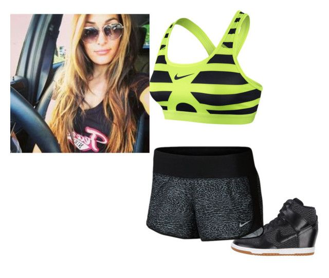 Working Out With Brie ~Nikki by kait-ziggler-ambrose on Polyvore featuring NIKE