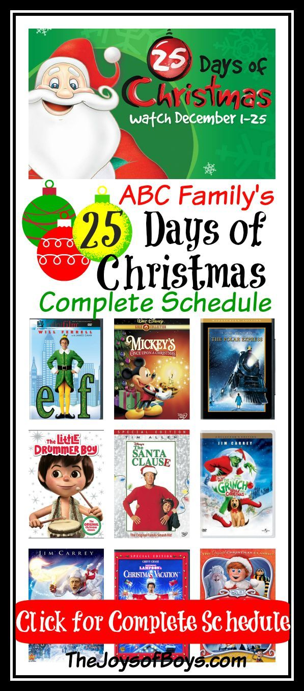 Abc Family 25 Days Of Christmas Plus Other Must See Holiday