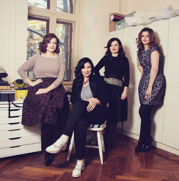 From left to right: Florina (Josephine), Diana, Adriana, Flo (DB)