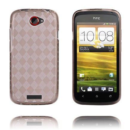 Tuxedo (Läpikuultava Harmaa) HTC One S Silikonisuojus