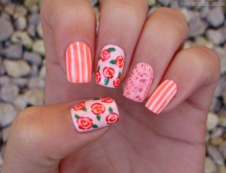 Nailpolis Museum of Nail Art | Pink Skittlette by Sanela
