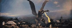 gif japan movies animation lightning golden godzilla dragon oldschool Destruction gojira kaiju king ghidorah hydra giant monster classic japan