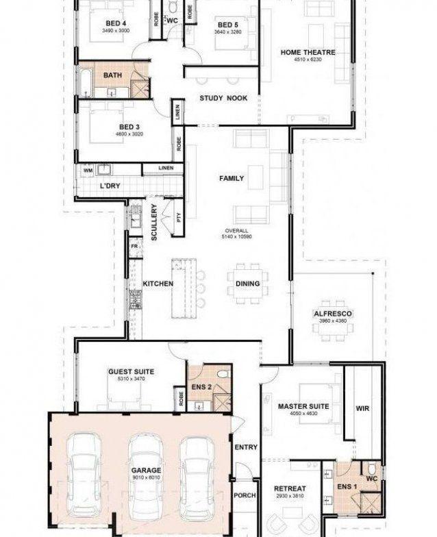 Floor Plan Friday 5 Bedrooms 3 Bathrooms 3 Car Garage Garage House Plans Floor Plans Bedroom Floor Plans