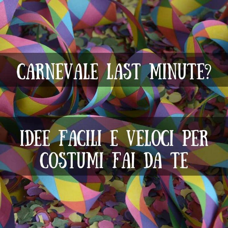 Carnevale last-minute: costumi fai da te per i bambini, idee facili e veloci