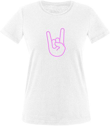 EZYshirt Rock Hand Damen Rundhals T-Shirt #damen…