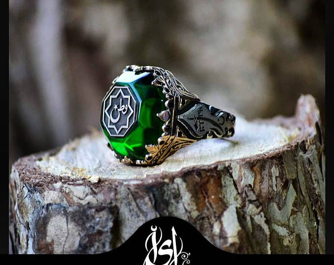 Cresent Ring,Islamic Ring,Silver Rings,Silver Jewelry,Adjustable Ring,Man Ring,Islamic Gifts,Gifts For Him,Handmade Rings,Amber Rings,Islam