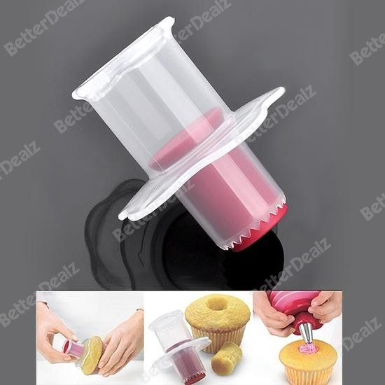 1x Kitchen Cupcake Muffin Cake Corer Plunger Pastry Decorating Cutter Model Tool