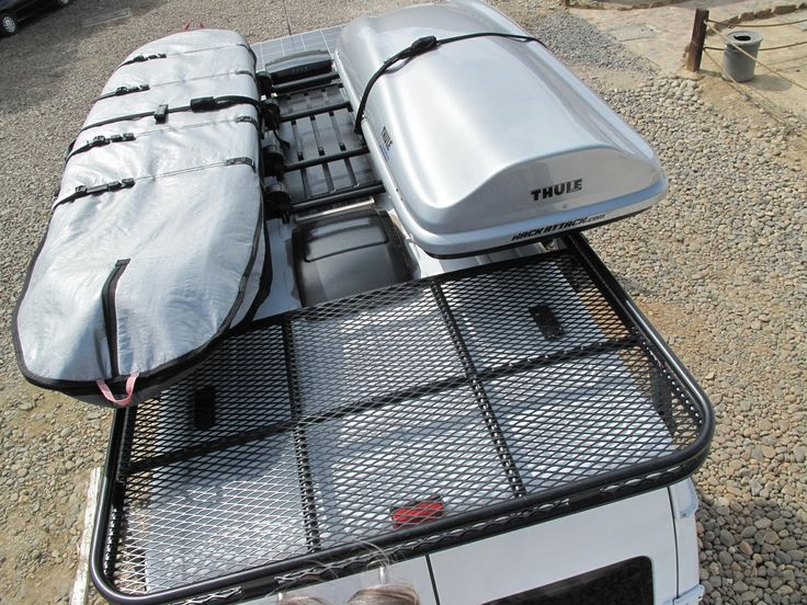 Roof Rack With Surfboard And Thule Box Sprinter