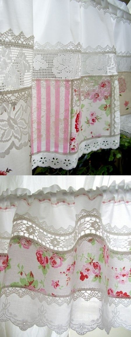 537 best images about rideaux country style on pinterest lace curtains - Rideaux dentelle coton ...