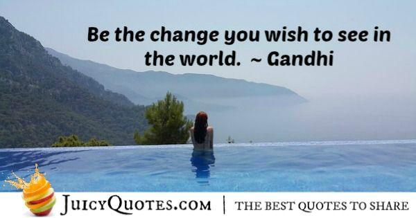 Positive Saying - Gandhi