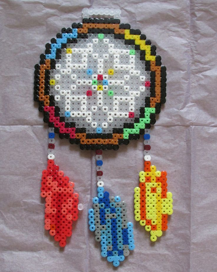 17 best images about perler bead patterns dream catchers for Dreamcatcher beads meaning