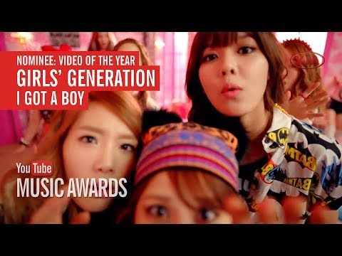 "I voted for Girls' Generation's ""I Got a Boy"" to win Video of the Year a..."