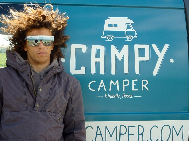 "Le ""petit"" marseillais Edouard Delpero en Campy Camper."