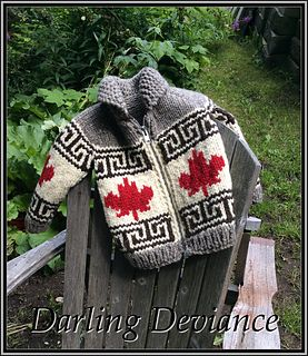 This is a pattern for my Oh Canada sweater, this time in child sizes (6-14, according to the Standards & Guidelines for Crochet and Knitting complied by the Craft Yarn Council.)