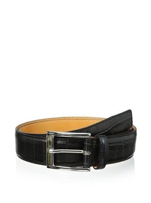 58% OFF Leone Braconi Men's Crocodrillo Stampato Embossed Belt (Black)