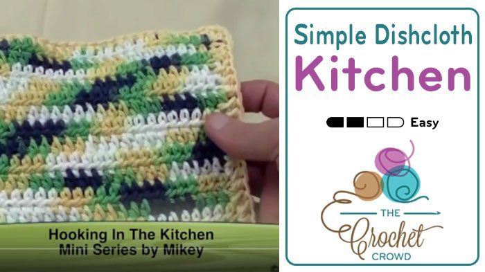 Crochet Simple Half Double Crochet Dishcloth