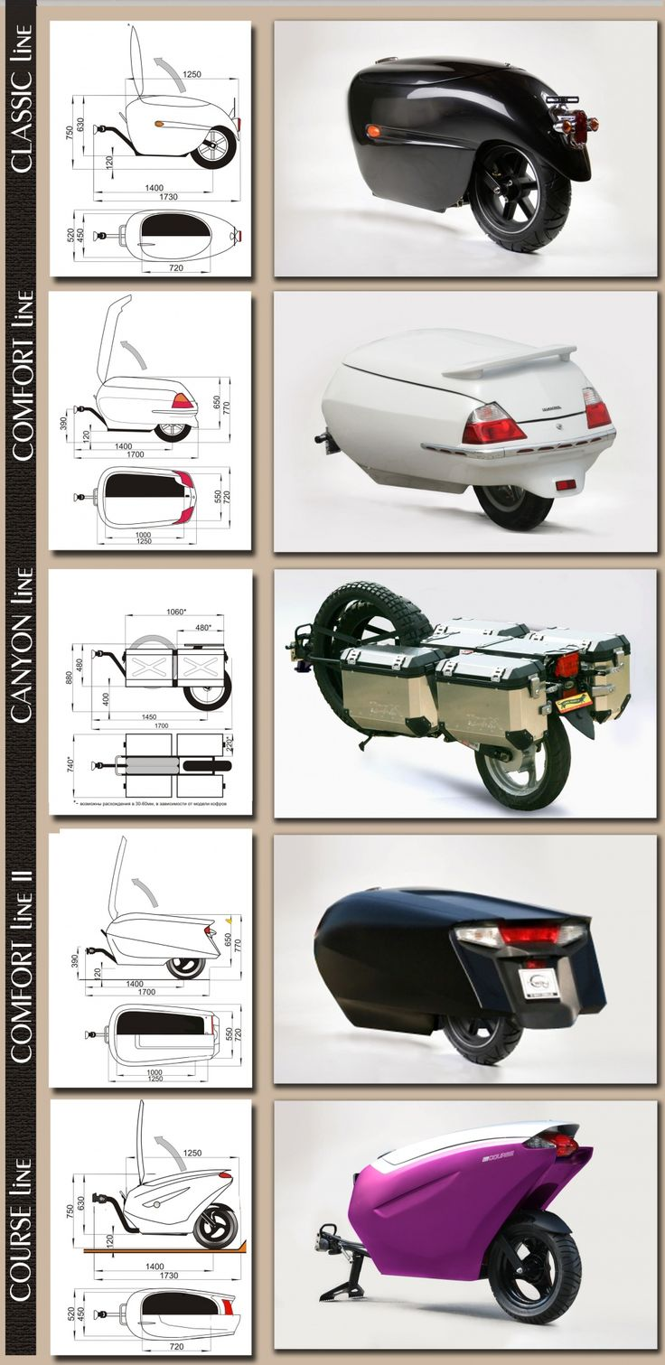 Unicycle motorcycle trailers from c-way.io.ua