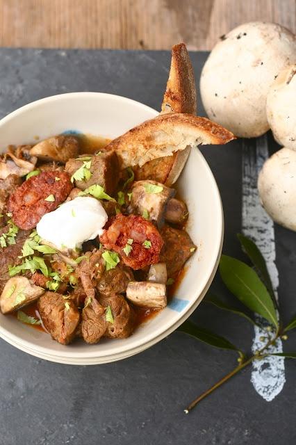 chorizo and mushroom stew