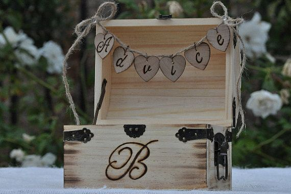 Rustic Wedding Advice Box Shabby Chic Wedding by BeaconHillCandles, $39.00