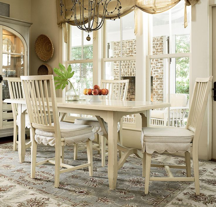Paula Deen By Universal River House 5 Piece Dining Set With Kitchen Table  And Chairs