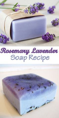 Rosemary Lavender Soap Recipe #homemade #diy #beauty