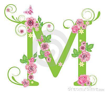 Letra M con las rosas