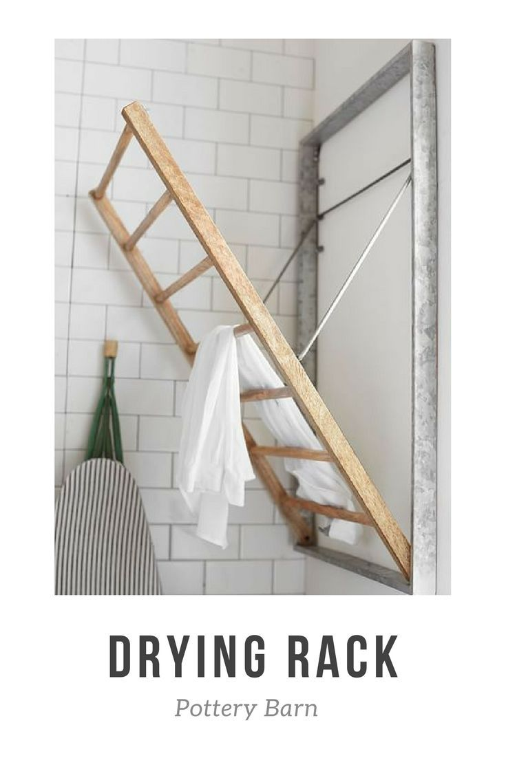 Galvanized Drying Rack For Laundry Room Farmhouse Industrial