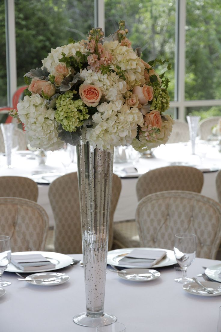 Tall Silver Centerpiece : Ideas to try about flowers mercury glass