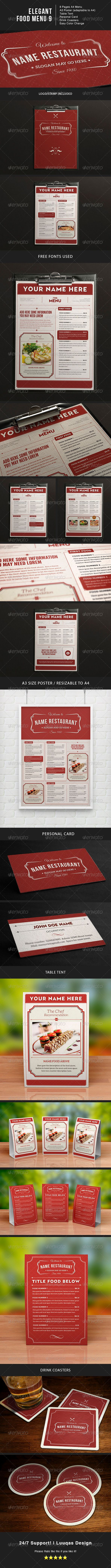48 best menu card images on pinterest food menu template print