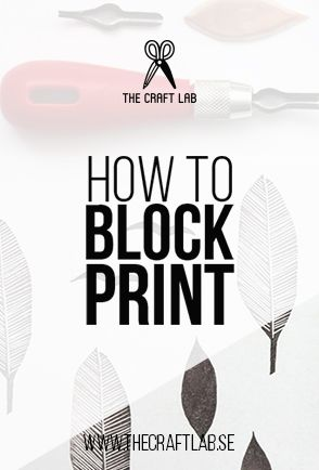 Block printing is an excellent technique for producing something that is truly handmade, and that can be easily replicated.