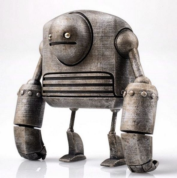 Just Robots by Onorio and Scott: The Most Adorable 3D Printed Robots Ever! #3DPrinting