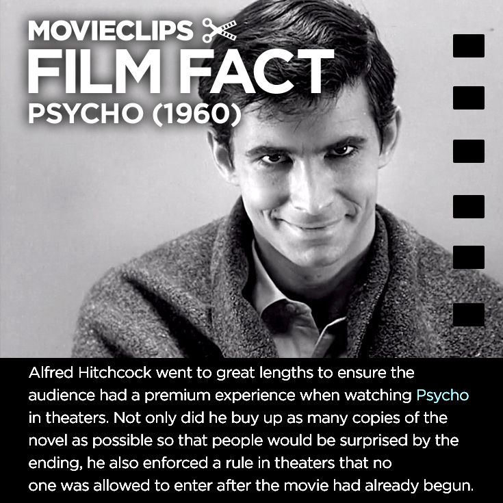 Psycho FilmFact Hitchcock's Theater Rules Film facts