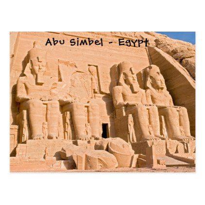 Great Temple of Abu Simbel - Egypt Postcard - postcard post card postcards unique diy cyo customize personalize
