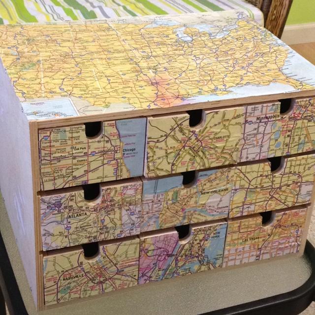 Ikea Storage Decoupage Maps Home Pinterest Ikea