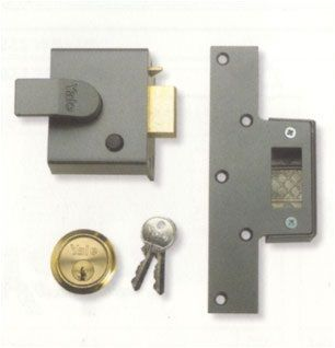 Yale Security Narrow Deadlock With Cylinder - locks & latches - nightlatches - YALE 65 PB Security Narrow Deadlock With Cylinder - Timber, Tool and Hardware Merchants established in 1933