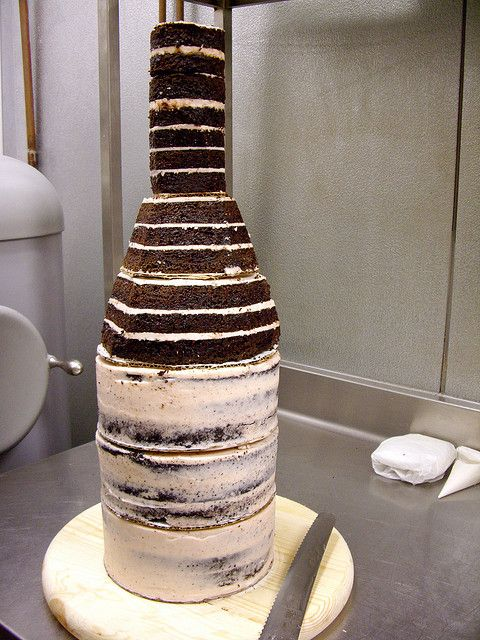 Carving The Bottle Out of Cake | Flickr - Photo Sharing!