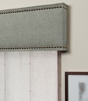 Cornice with nail head trim ideas for the house for Head casing window